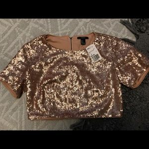 Forever 21 Sequin Crop NWT